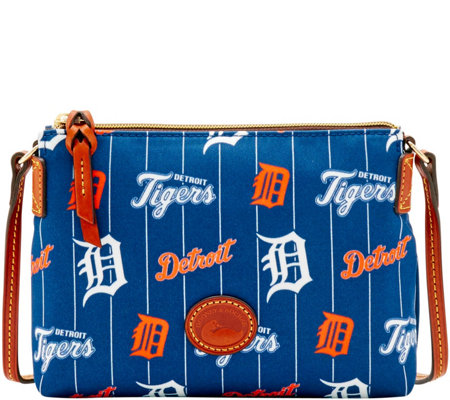 Dooney & Bourke MLB Nylon Tigers Crossbody Pouchette