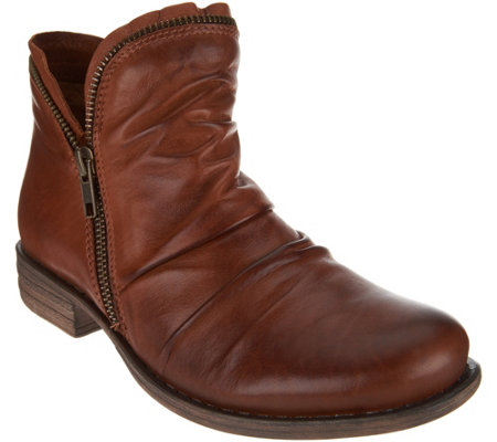Miz Mooz Leather Ankle Boots with Side Zip - Luna