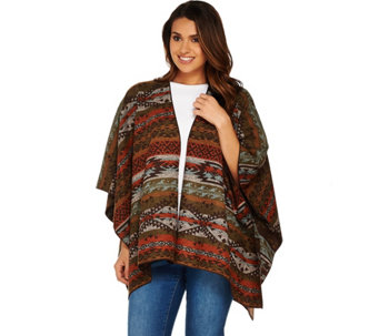 Denim & Co. Southwestern Jacquard Wrap - A283672