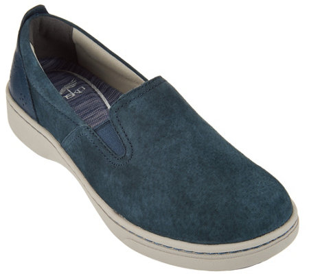 """As Is"" Dansko Suede Twin Gore Slip-on Sneakers - Belle Suede"