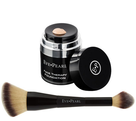 EVE PEARL Face Therapy Foundation & 203 Finishing Brush