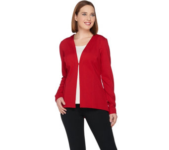 Susan Graver Ponte Knit Long Sleeve Jacket - A284772