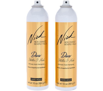 Nick Chavez Diva Stilettos& Heels Ultimate Hold Hairspray 10 oz Duo - A284872