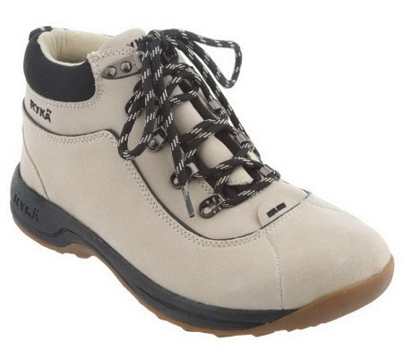 Ryka Water Resistant Suede Lace-up Comfort Boots