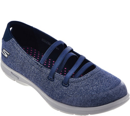 """As Is"" Skechers GO Step Heathered Mary Jane - Pose"