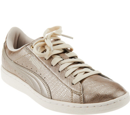 PUMA Metallic Lace-up Sneakers - Vikky Metallic
