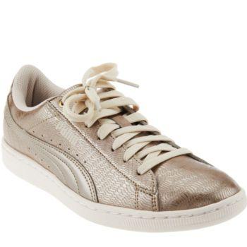 PUMA Metallic Lace-up Sneakers - Vikky Metallic