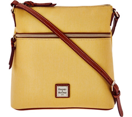 """As Is"" Dooney & Bourke Canvas Crossbody with Leather Trim"