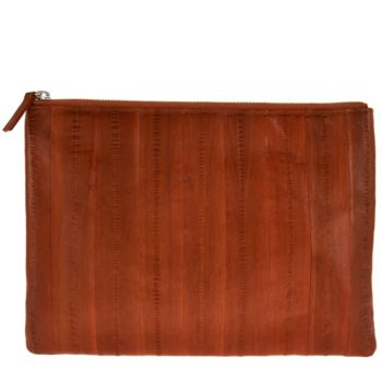 Lee Sands Eelskin Clutch Purse with_RFID Protection