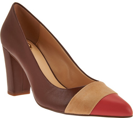 """As Is"" C. Wonder Leather and Suede Pumps with Toe Detail - Jillian"
