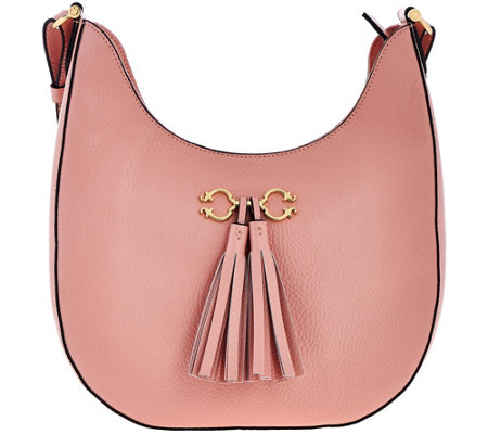 """As Is"" C. Wonder Pebble Leather Hobo Handbag w/Hrdwr & Tassel Detail"