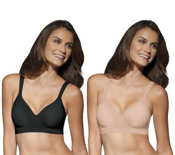 """As Is"" Bali Set of 2 Comfort Revolution Wirefree Bras - A290172"