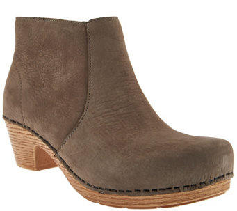 """As Is"" Dankso Nubuck Clog Boots - Maria - A290372"