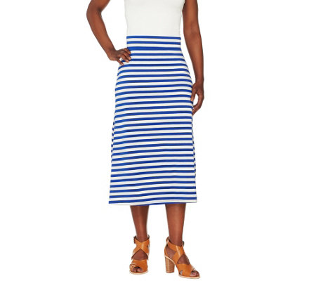 """As Is"" Liz Claiborne New York Striped Midi Skirt"