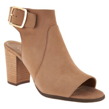 Vionic Orthotic Leather Heeled Sandals - Blakely