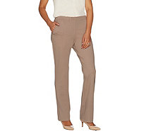 Dennis Basso Knit Straight Leg Pants with Pockets - A298272