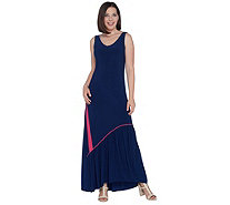 Attitudes by Renee Regular Como Jersey Maxi Dress w/ Ruffle Hem - A301372