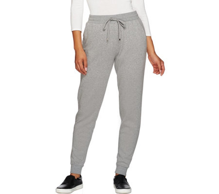 """As Is"" Isaac Mizrahi Live! SOHO Jersey Knit Jogger Pants"