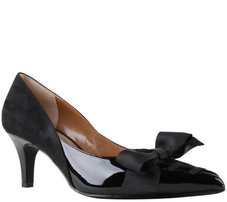 J. Renee Low Heel Pointed Toe Pumps - Machealle
