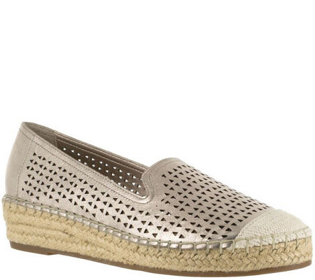 Bella Vita Leather Perforated Espadrilles - Channing