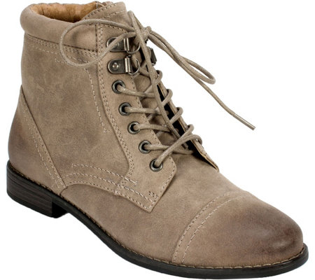 White Mountain Lace-Up Booties - Trenton