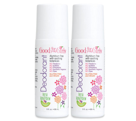 Good For You Girls Honeydew Aluminum-Free Deodorant 2-Pack