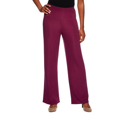 Susan Graver Lustra Knit Wide Leg Regular Pants