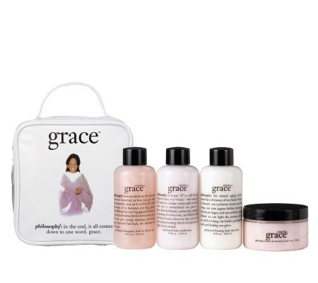 philosophy 4 piece amazing grace gift set - Page 1 — QVC.com