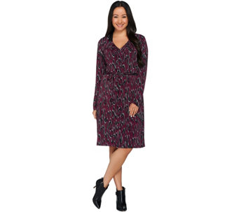 Kelly by Clinton Kelly Printed Knit Dress with Ruffle Detail - A228573