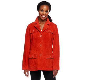 Denim & Co. Washable Suede Jacket with Pockets - A235673
