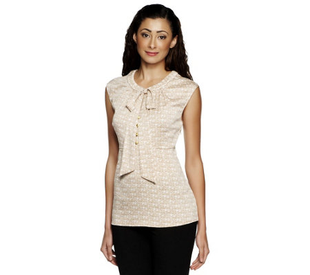 Status by Star Jones Sleeveless Woven Blouse