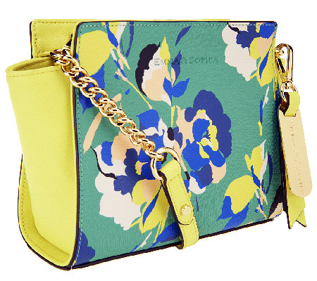 Emma and Sophia Printed Saffiano Leather Crossbody