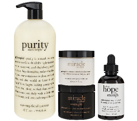 philosophy purity hope & miracles 4-pc anti-aging set