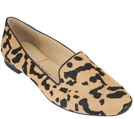 Sole Society Cheetah Haircalf Slip-on Loafers - Miia