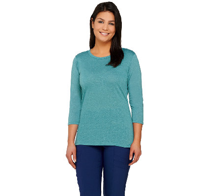 Lisa Rinna Collection 3/4 Sleeve Knit Top with Back Detail