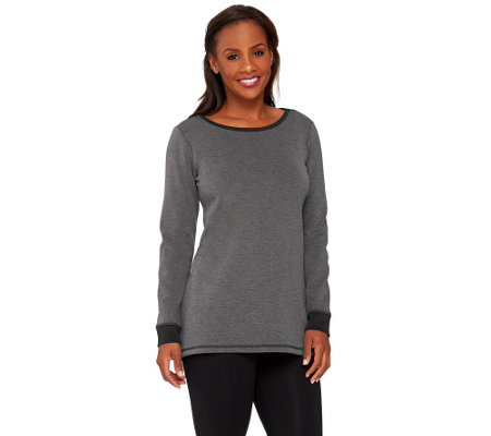 Linea Leisure by Louis Dell'Olio Knit Long Sleeve Tunic