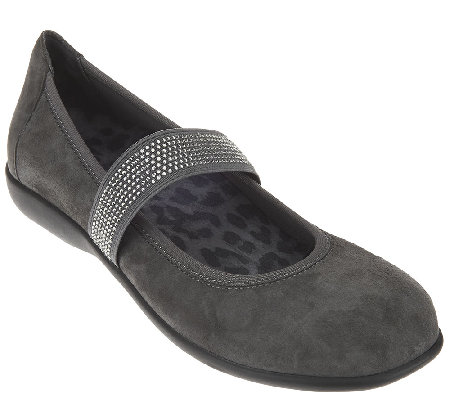 Vionic Orthotic Leather Mary Janes - Fern