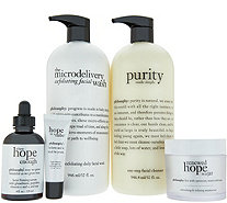philosophy supersize cleanse, treat & renew set - A271773