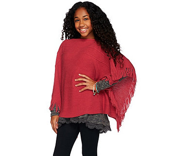 Layers by Lizden Marvelush Little Ladies Poncho - A272973