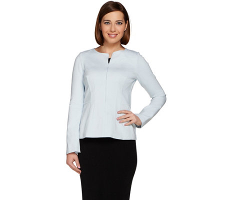 G.I.L.I. Zip Sleeve Milano Ponte Top