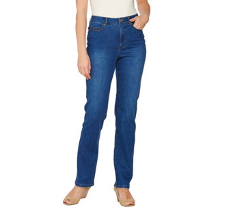 Isaac Mizrahi Live! TRUE DENIM Regular Straight Leg Jeans - A274473