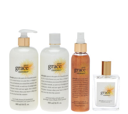 philosophy pure grace summer 4-piece layering kit