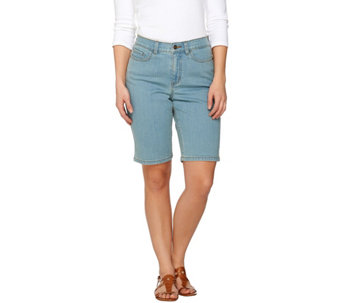 "Denim & Co. ""How Modern"" 5 Pocket Denim Bermuda Short - A275573"