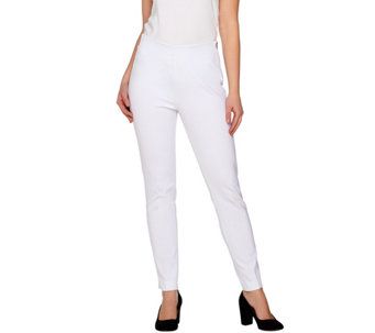 Kelly by Clinton Kelly Petite Pull-On Knit Pants with Side Zip - A276973