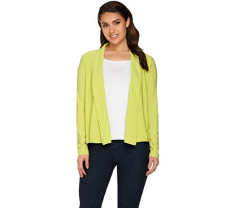 Attitudes by Renee Open Front Jersey Knit Cardigan - A278773