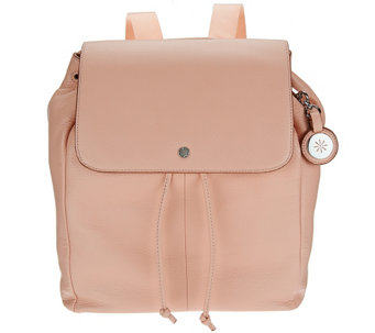 """As Is"" Isaac Mizrahi Live! SOHO Pebble Leather Backpack - A278973"