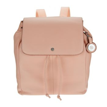 As Is Isaac Mizrahi Live! SOHO Pebble Leather Backpack