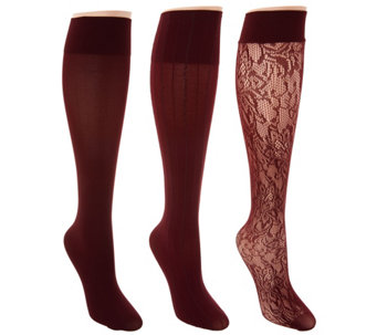 Linea Body by Louis Dell'Olio Set of 3 Trouser Socks - A283073