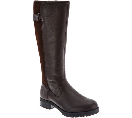 Clarks Leather Waterproof Tall Shaft Boots - Faralyn May