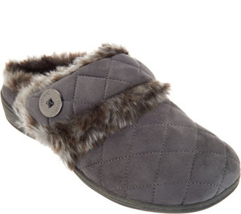 Vionic Orthotic Quilted Slippers - Fireside - A285173